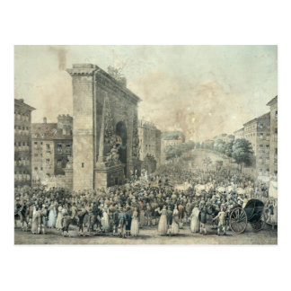 Eingang von Louis XVIII durch Porte Postkarte