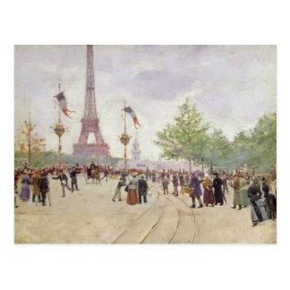 Eingang zur Ausstellung Universelle, 1889 Postkarte