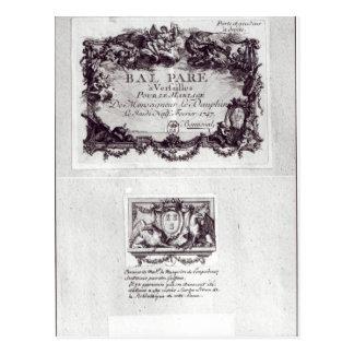Eingangskarte für den Ball in Versailles Postkarte