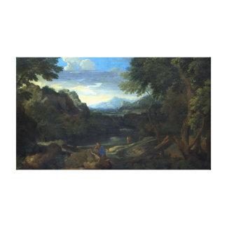 Eingebildete Landschaft Gaspard Dughet Leinwanddruck