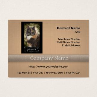 Eingebildeter Kitty - wollen was Sie? Visitenkarte