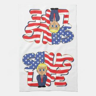 Eingebildetes Leben Donald Trump Küchentuch