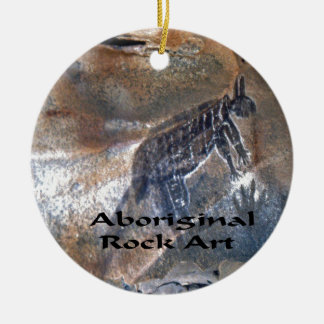 Eingeborene Felsenkunst Rundes Keramik Ornament