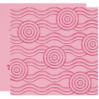 Eingeborene Kunst gumnut Blüten Karte