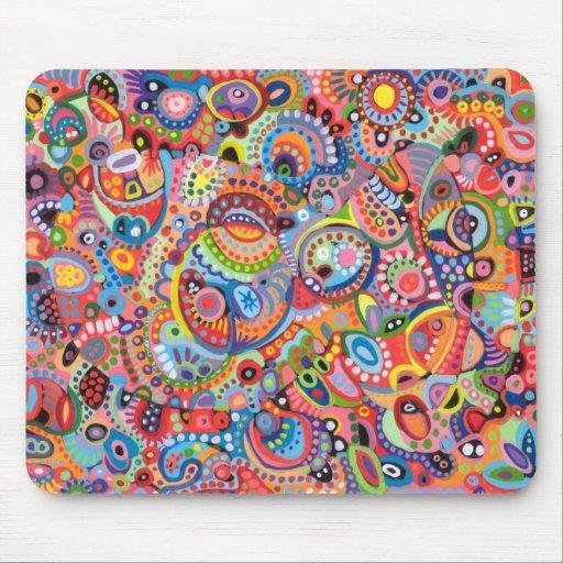 Eingeborene Kunst inspiriertes Mousepad