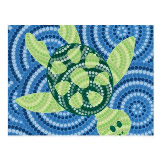 Eingeborene Schildkrötepunktmalerei Postkarte