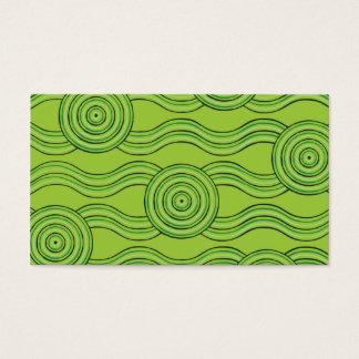 Eingeborener Kunstregenwald Visitenkarte