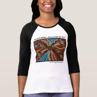 Eingeborenes Kunst-Schildkröte-Ei-Träumen T Shirts