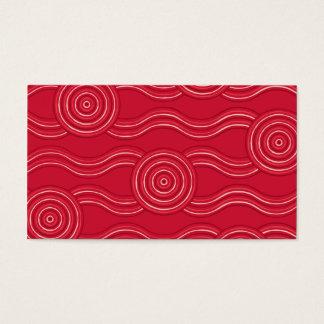 Eingeborenes Kunst waratah Visitenkarte