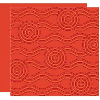 Eingeborenes Kunstfeuer Karte