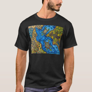 Eingeborenes Schildkröte-Malen T-Shirt