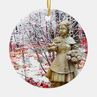 Eingefroren in der Zeit Rundes Keramik Ornament
