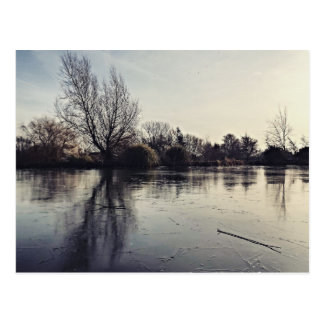 Eingefroren Postkarte