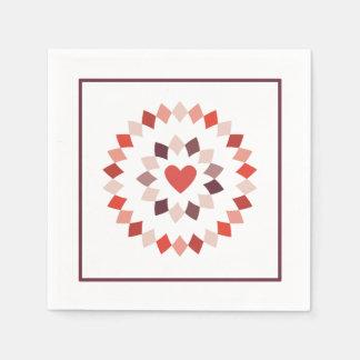 Eingekreistes Herz-Cocktail Papierserviette
