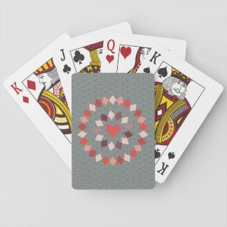 Eingekreistes Herz Spielkarten
