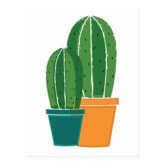 Eingemachter Kaktus Postkarte