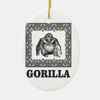 eingepackter Gorilla Keramik Ornament