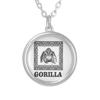 eingepackter Gorilla Versilberte Kette