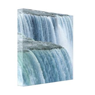 Eingewickelter Leinwand-Druck Niagara Falls Nahauf Leinwanddruck