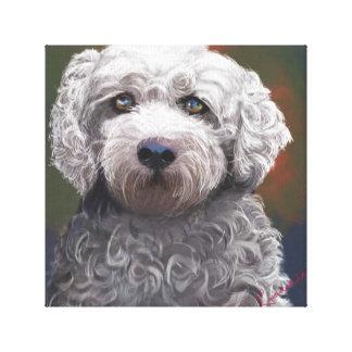 """Eingewickeltes Porträt der Leinwand 12x12"""" Hunde"""