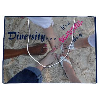 Einheit! Ethnischer Diversity-Rum-Punkt Cayman Große Geschenktüte