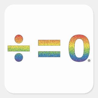 Einheit im Diversity Quadratischer Aufkleber
