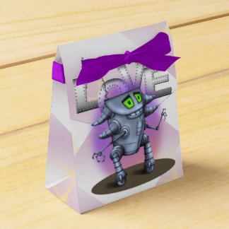 EINHEITS-ROBOTER-CARTOON Zelt mit Geschenkschachtel