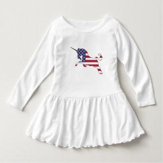 """Einhorn """"amerikanische Flagge """" Kleid"""