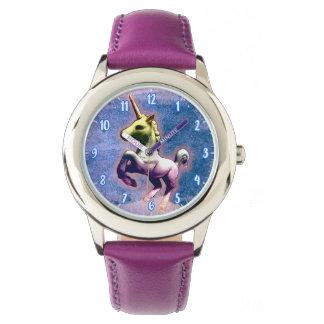 Einhorn-Armbanduhr-| gebranntes Blau Uhr