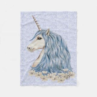 Einhorn-Blau-Haar Fleecedecke