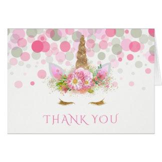 Einhorn danken Ihnen Karten