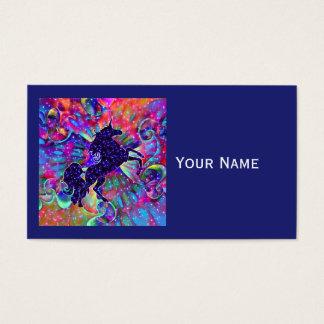EINHORN DES UNIVERSUMS mehrfarbig Visitenkarte