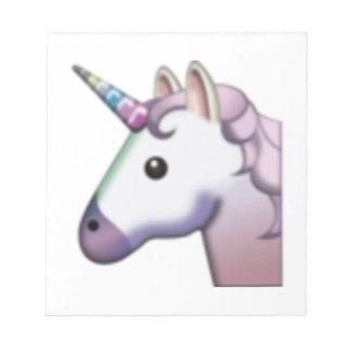 Einhorn - Emoji Notizblock