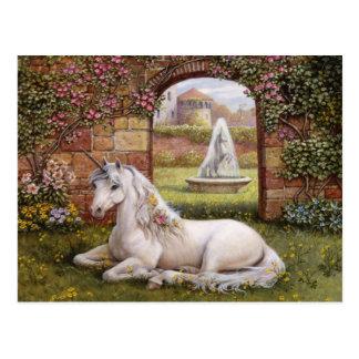 Einhorn-Garten Postkarte