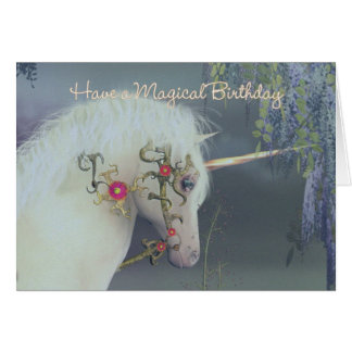 Einhorn-Geburtstags-Karten-magischer Geburtstag Grußkarte