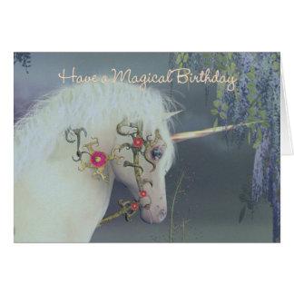 Einhorn-Geburtstags-Karten-magischer Geburtstag Karte