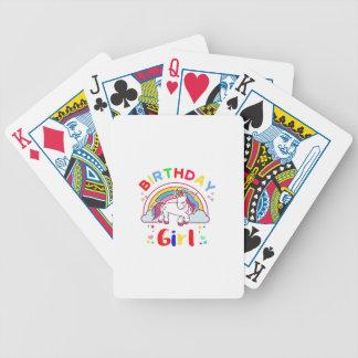Einhorn-Geburtstags-Mädchen Bicycle Spielkarten