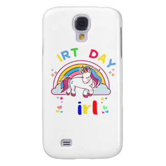 Einhorn-Geburtstags-Mädchen Galaxy S4 Hülle