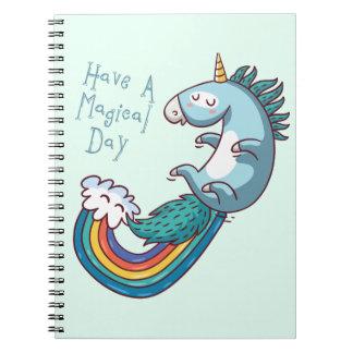 """Einhorn """"haben einen magischen Tag """" Spiral Notizbücher"""