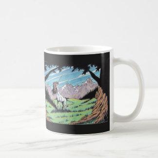 Einhorn in der Lichtung Kaffeetasse