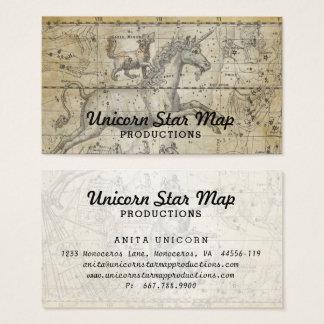 Einhorn-Karten-Konstellation Ursa Major TAN Visitenkarte