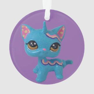 Einhorn-Katzen-Verzierung Ornament