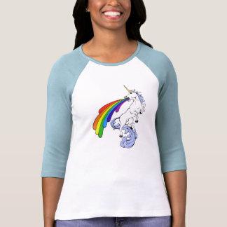 Einhorn-kotzendes Regenbogen-T-Shirt