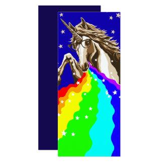 Einhorn kotzt Regenbogen 10,2 X 23,5 Cm Einladungskarte