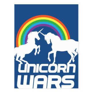 Einhorn-Kriege mit Regenbogen Postkarte
