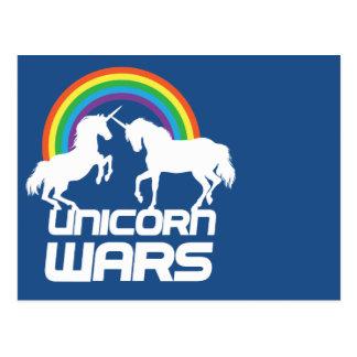 Einhorn-Kriege mit Regenbogen Postkarten