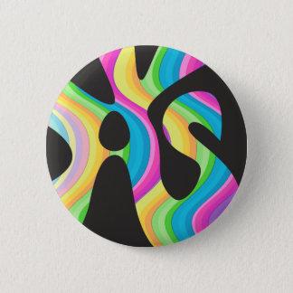 Einhorn-Lava Runder Button 5,7 Cm