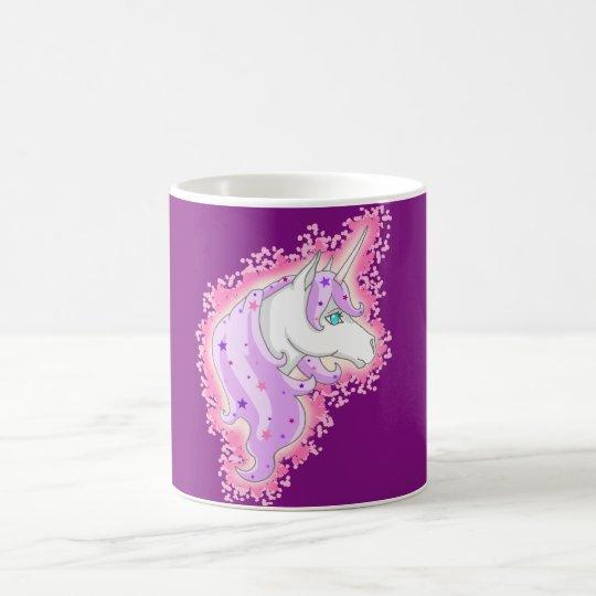 Einhorn lila rosa kaffeetasse