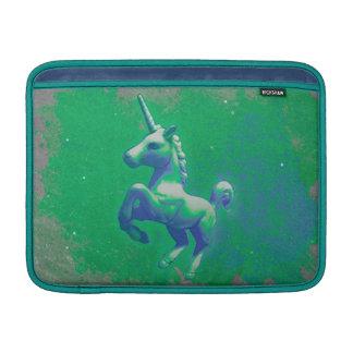 Einhorn Macbook Luft-Hülse (glühend Smaragd) Sleeve Fürs MacBook Air