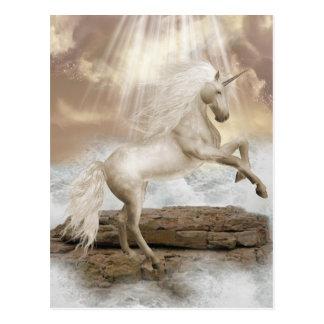 Einhorn-magische Schönheits-Postkarte Postkarte
